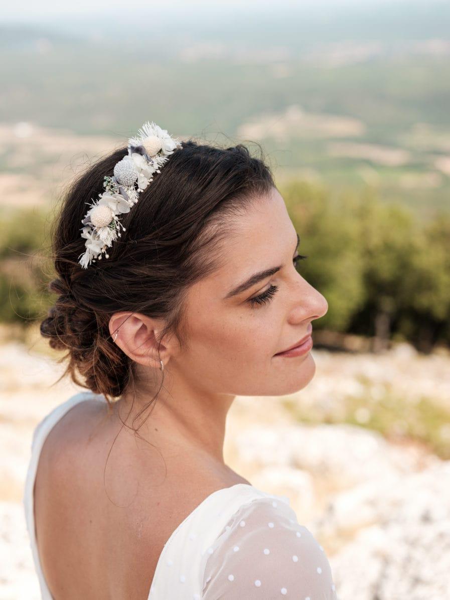 Headband de fleurs stabilisées Horizon mini - Photographe Ilan Dehé - Collection 2020 mariage