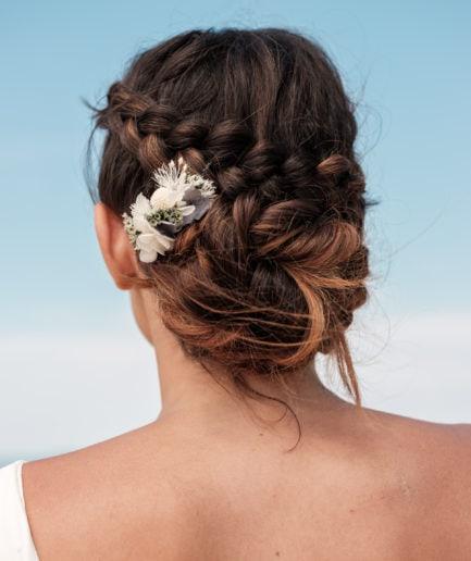 Peigne de mariée mini Horizon - Photo Ilan Dehé - Les Fleurs Dupont