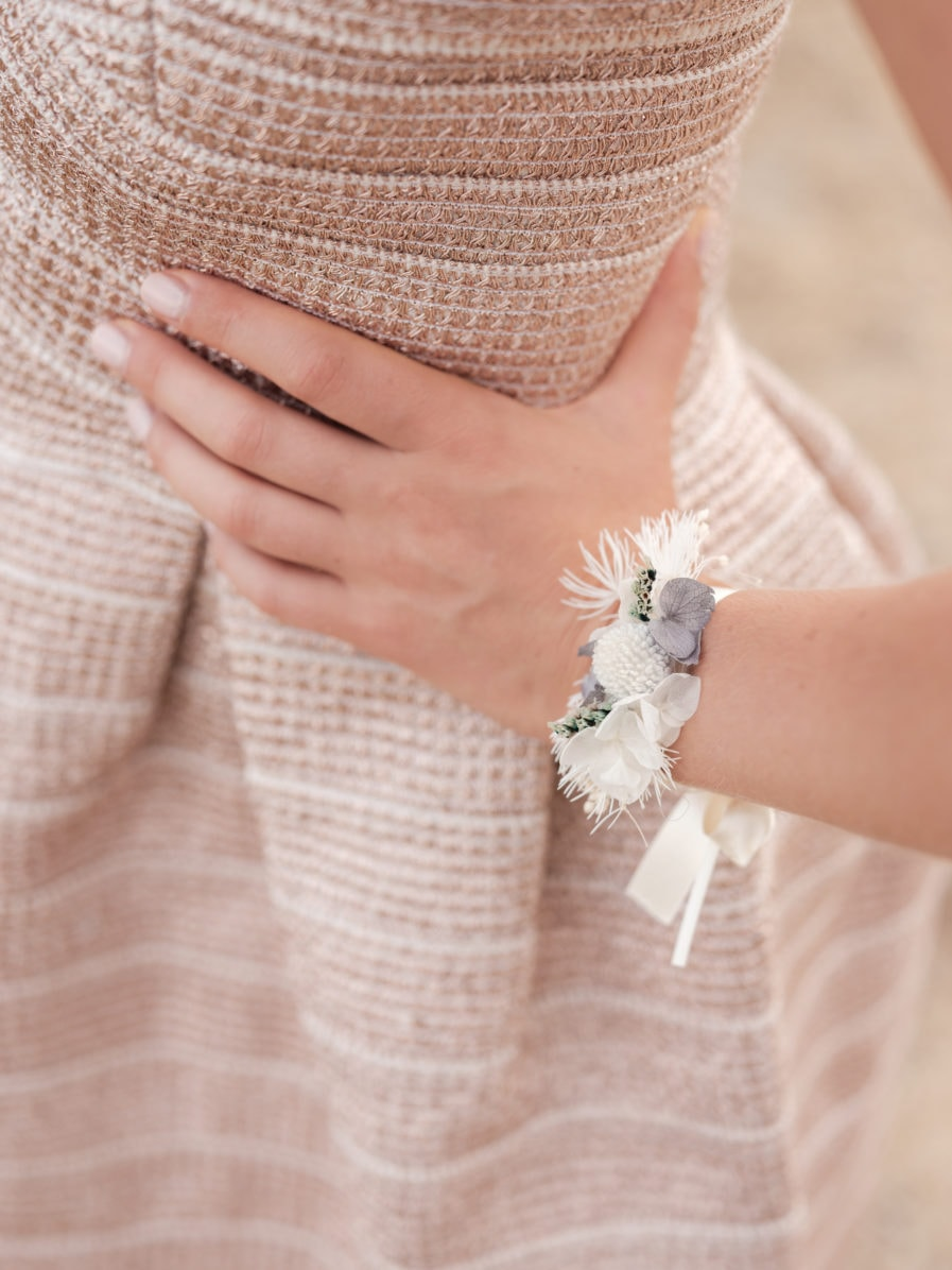 Bracelet en fleurs stabilisées Horizon Photo IlanDehe - Les Fleurs Dupont