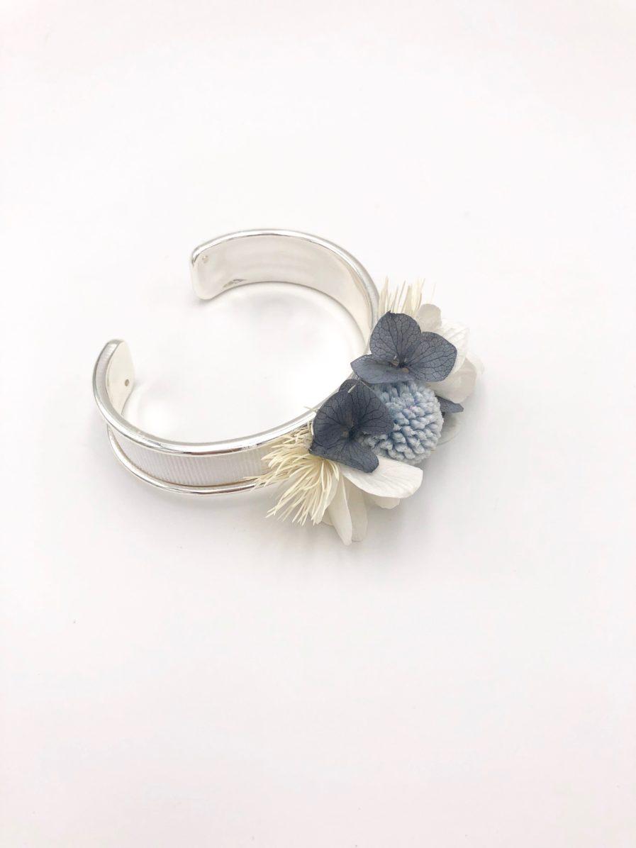 Bracelet en fleurs stabilisées jonc - Accessoire de mariage