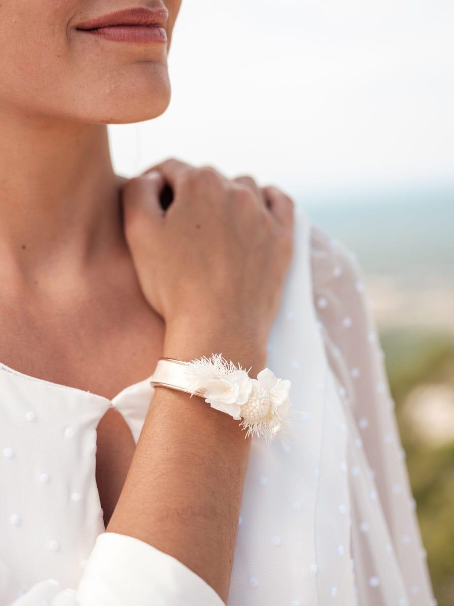 Bracelet jonc fleuri Nimbe - Les Fleurs Dupont