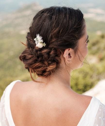 Grand pic à chignon Horizon en fleurs stabilisées - Photo Ilan Dehé