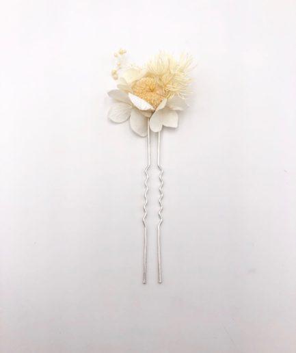 Grand pic à chignon Nimbe en fleurs stabilisées