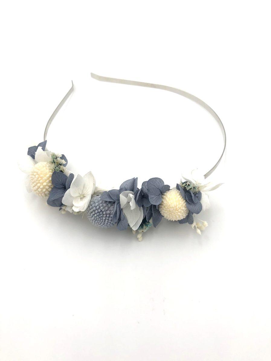Headband en fleurs stabilisées Horizon