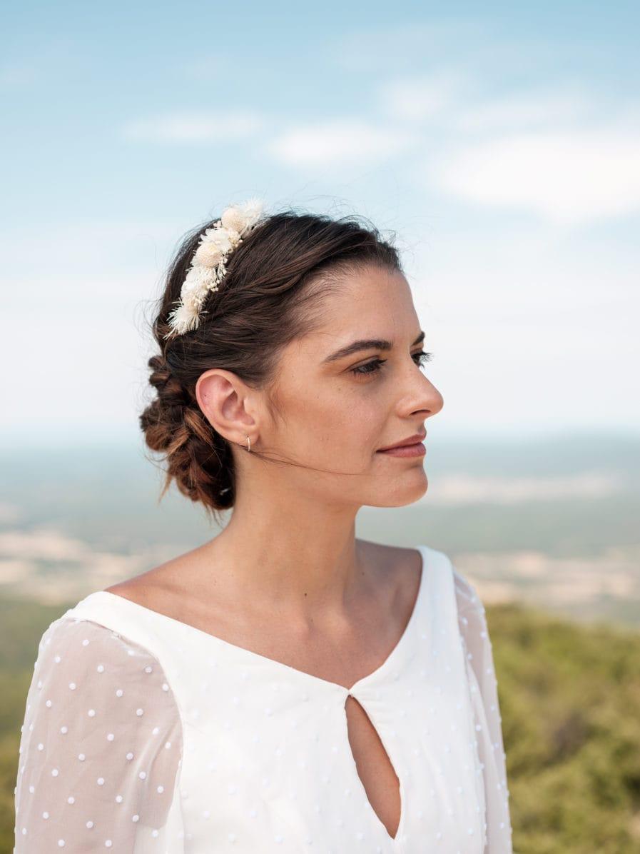 Headband fleuri Nimbe - Photo Ilan Dehé - Les Fleurs Dupont