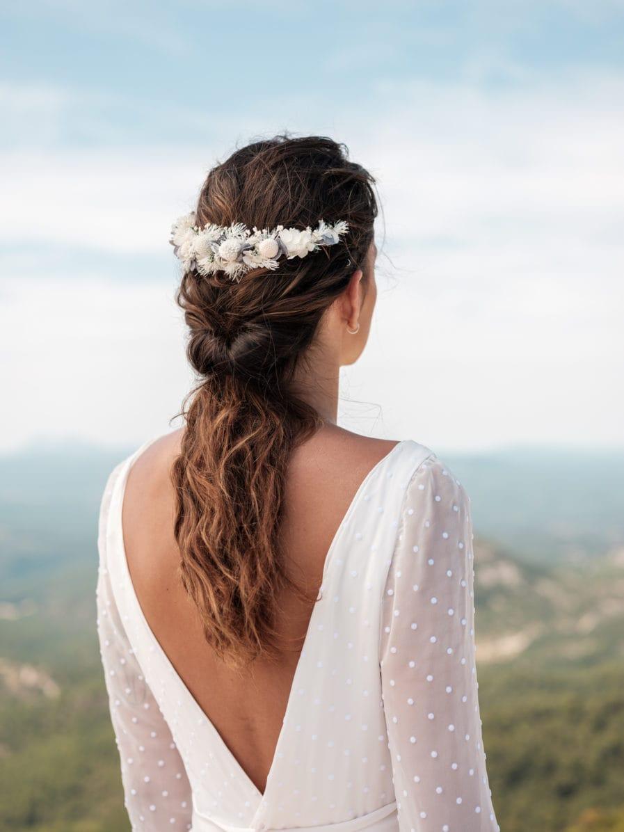 Peigne de fleurs stabilisées long Horizon - Photo Ilan Dehé - Les Fleurs Dupont