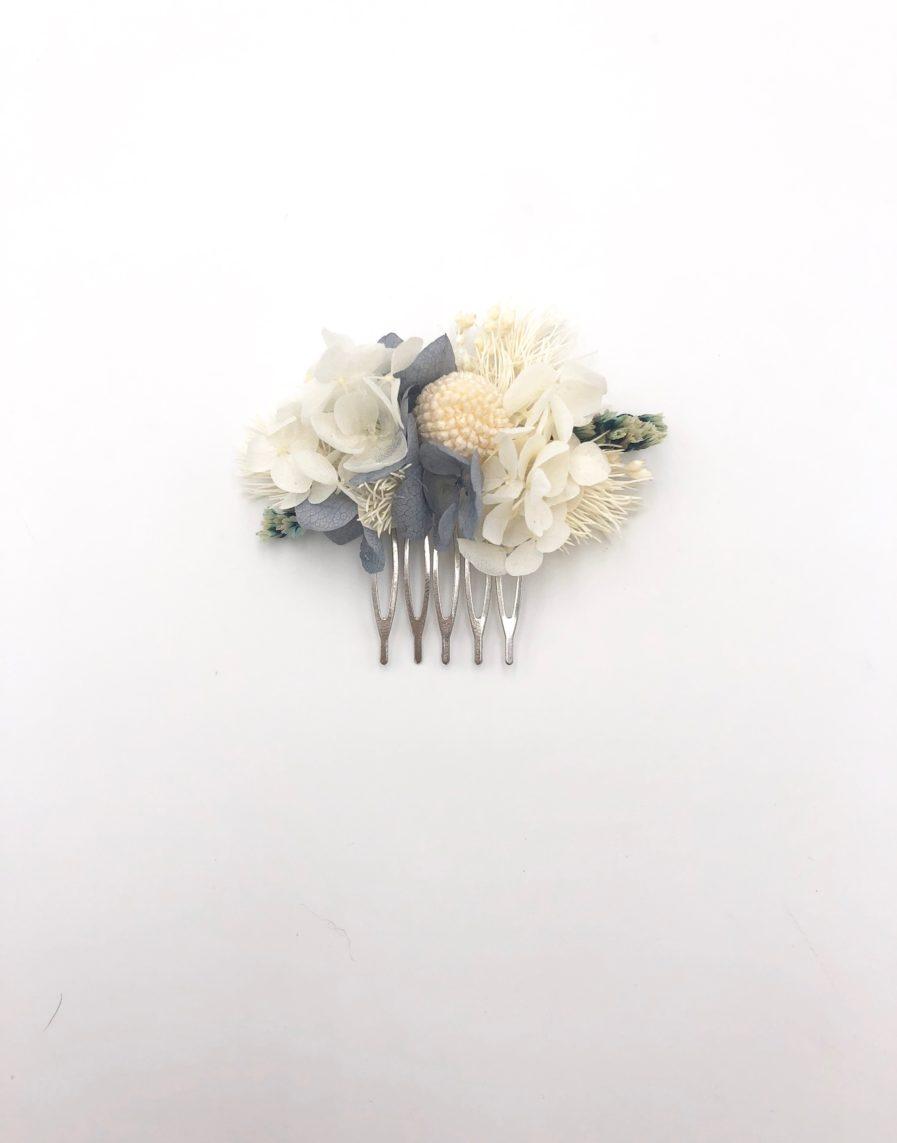 Peigne de mariée Horizon mini en fleurs stabilisées - Les Fleurs Dupont