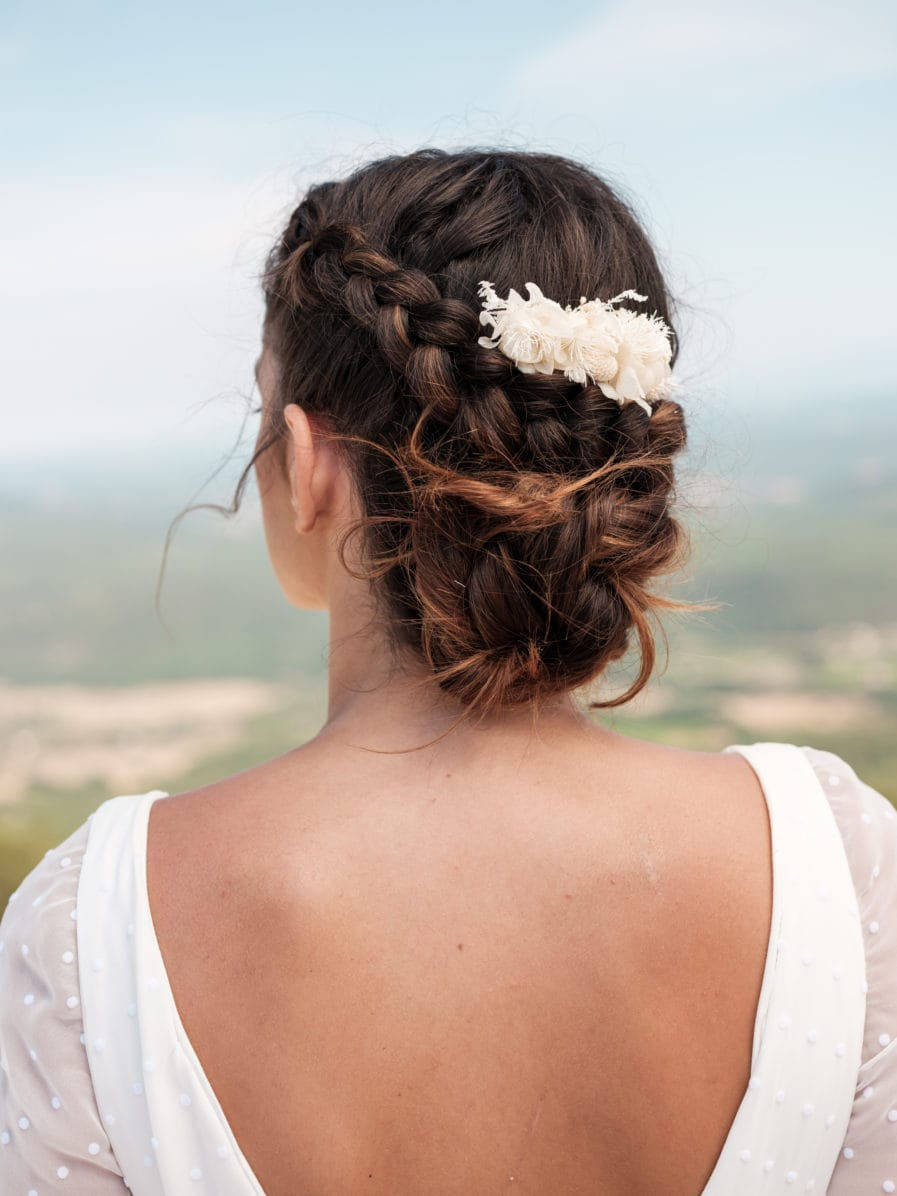Peigne de mariée Nimbe - Les Fleurs Dupont - Photo Ilan Dehé