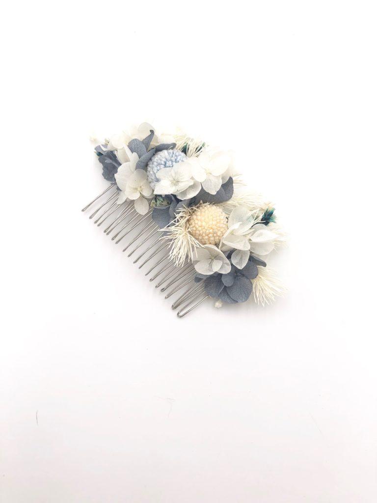 Peigne de mariée en fleurs - Collection Horizon - Les Fleurs Dupont