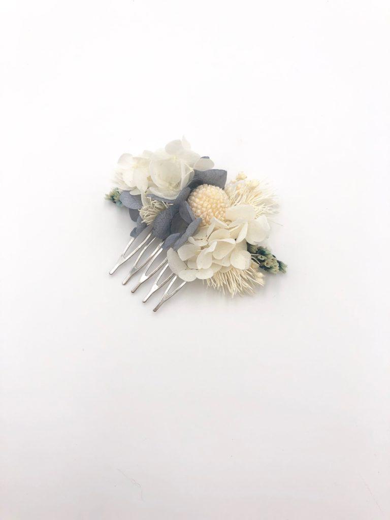 Peigne mini Horizon en fleurs stabilisées