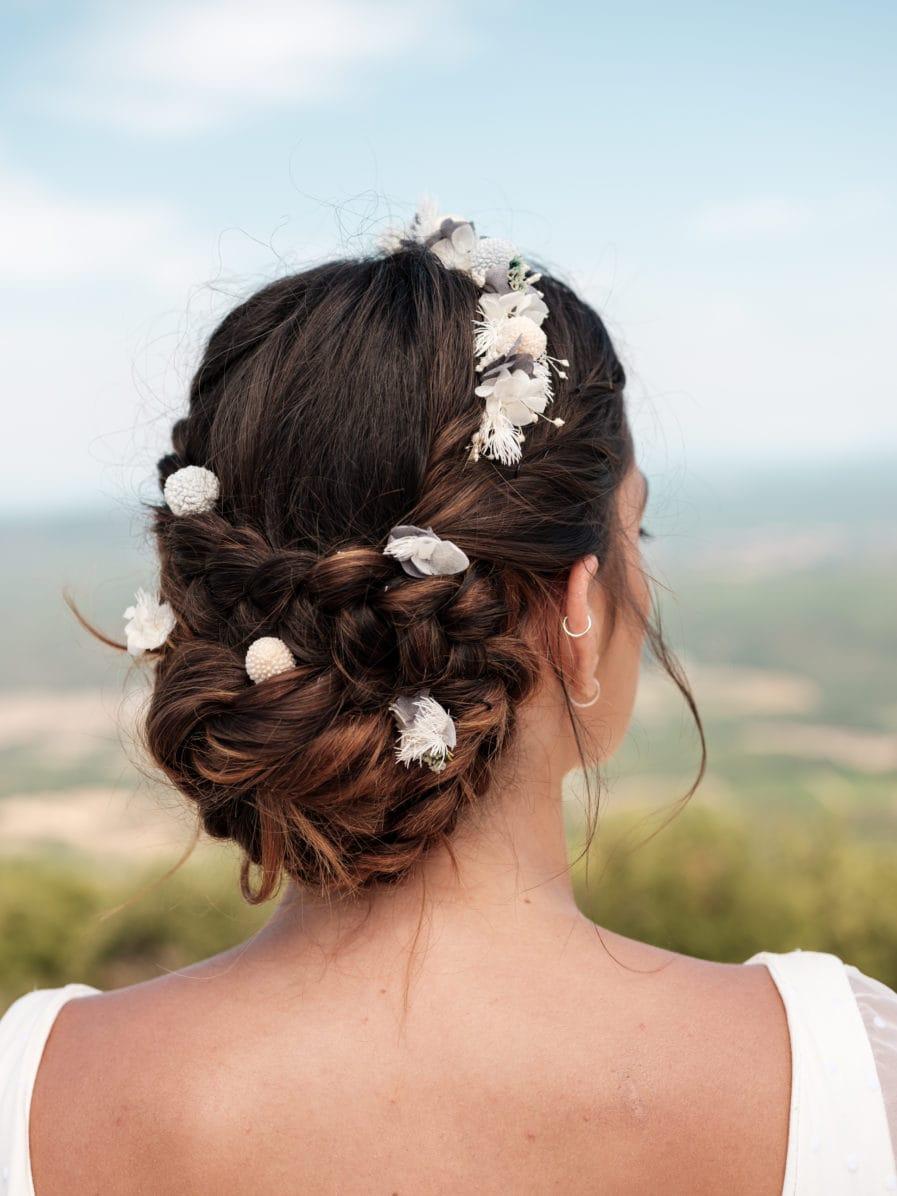 Set headband et pics Horizon en fleurs stabilisées - Les Fleurs Dupont