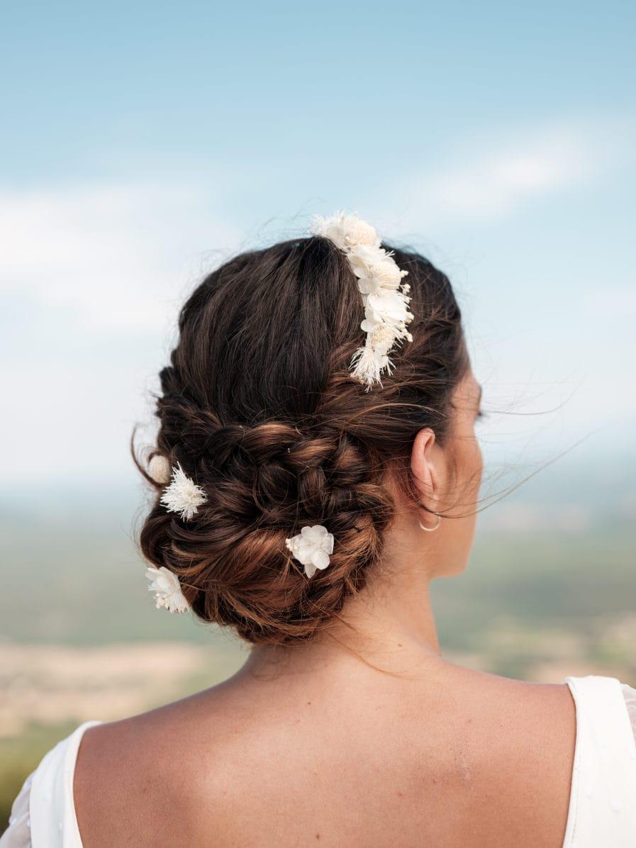 Set headband et pics Nimbe pour la mariée moderne
