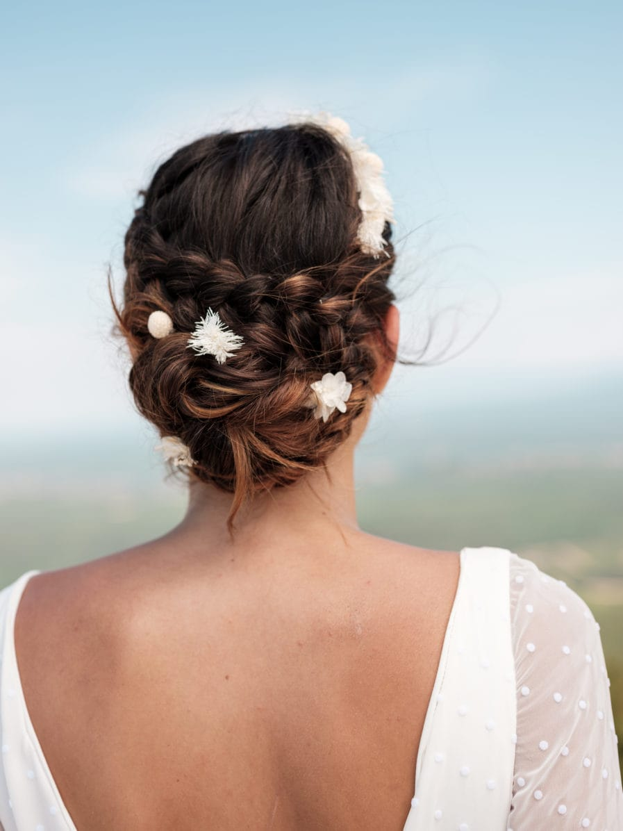 Set headband et pics Nimbe en fleurs stabilisées - Les Fleurs Dupont