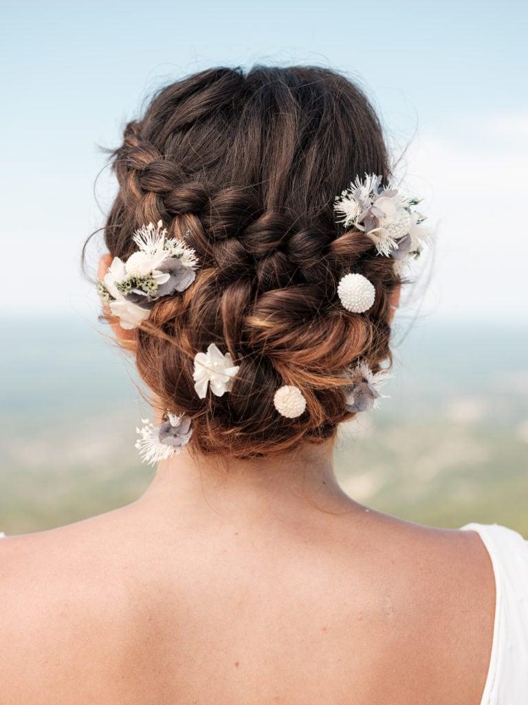 Set peigne et pics Horizon - Photo Ilan Dehé - Accessoire de mariage en fleurs