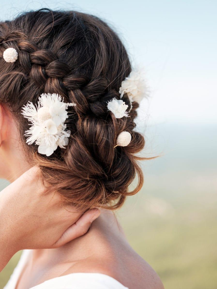 Set peigne et pics Nimbe pour la mariée moderne