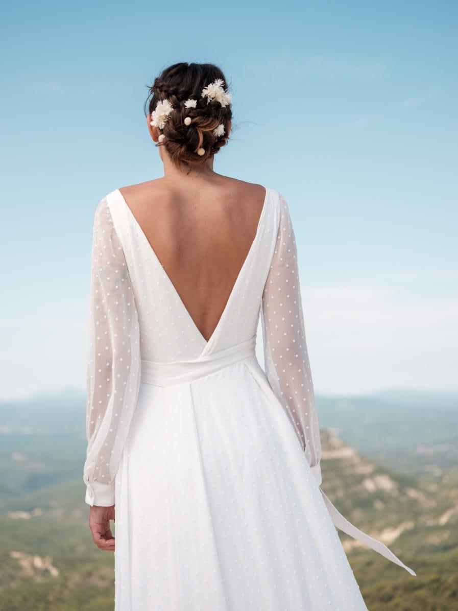 Set peigne et pics Nimbe en fleurs stabilisées - Pics à cheveux et peigne de mariée