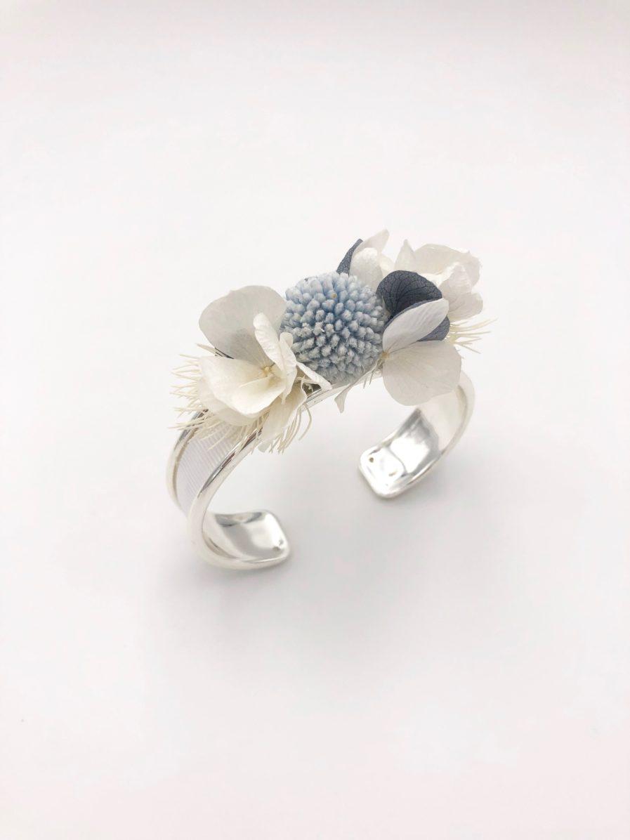 bracelet jonc fleuri Horizon pour la demoiselle d'honneur et la mariée