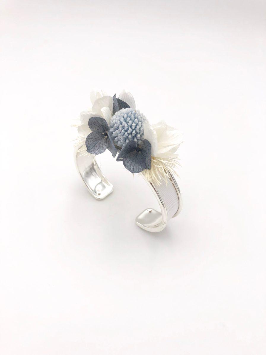 bracelet jonc fleuri Horizon pour la mariée moderne