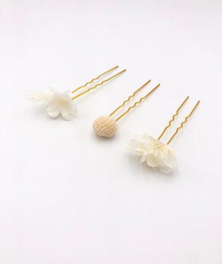 pics à cheveux en fleurs Nimbe - Collection Horizon