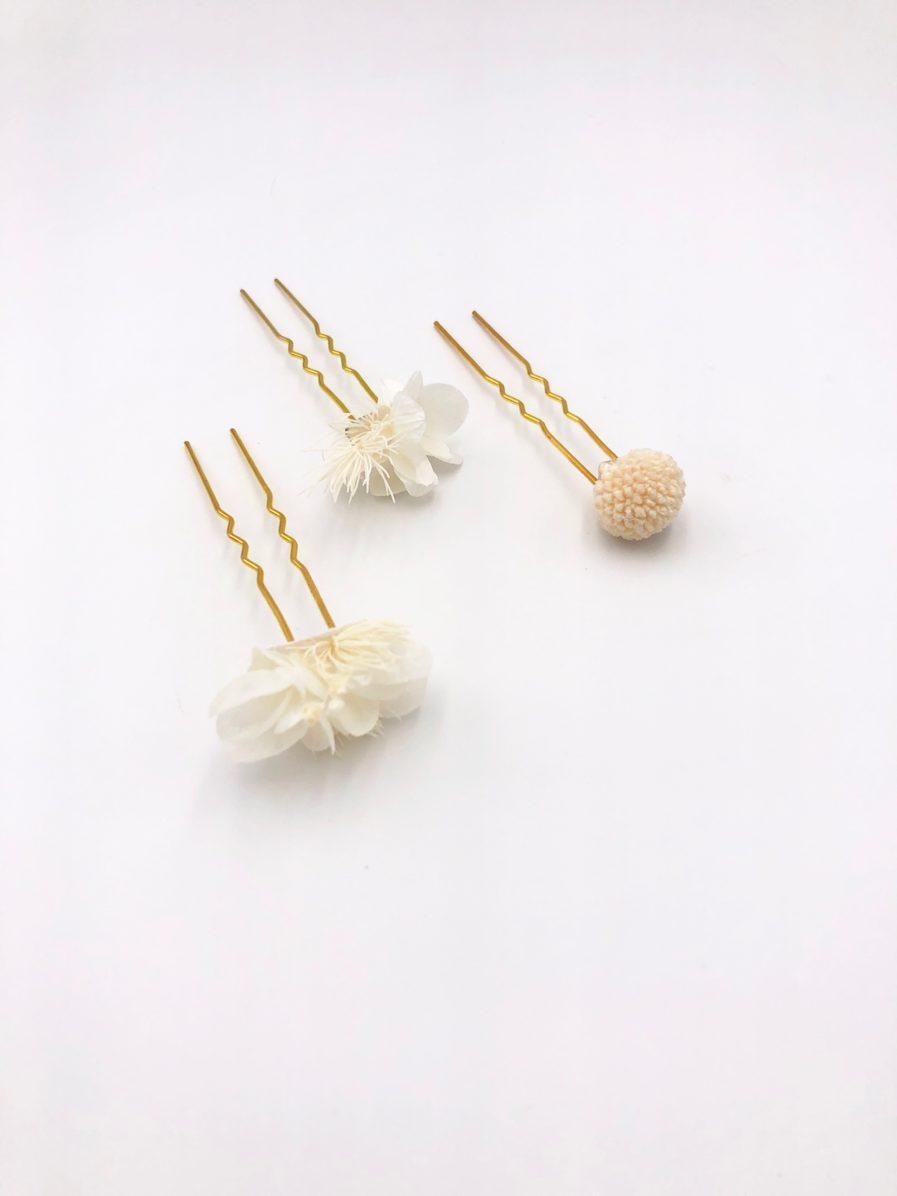 Pics en perle de cheveux
