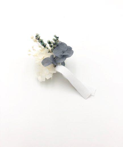 Boutonnière de marié en fleurs stabilisées Horizon - pour les témoins et le marié