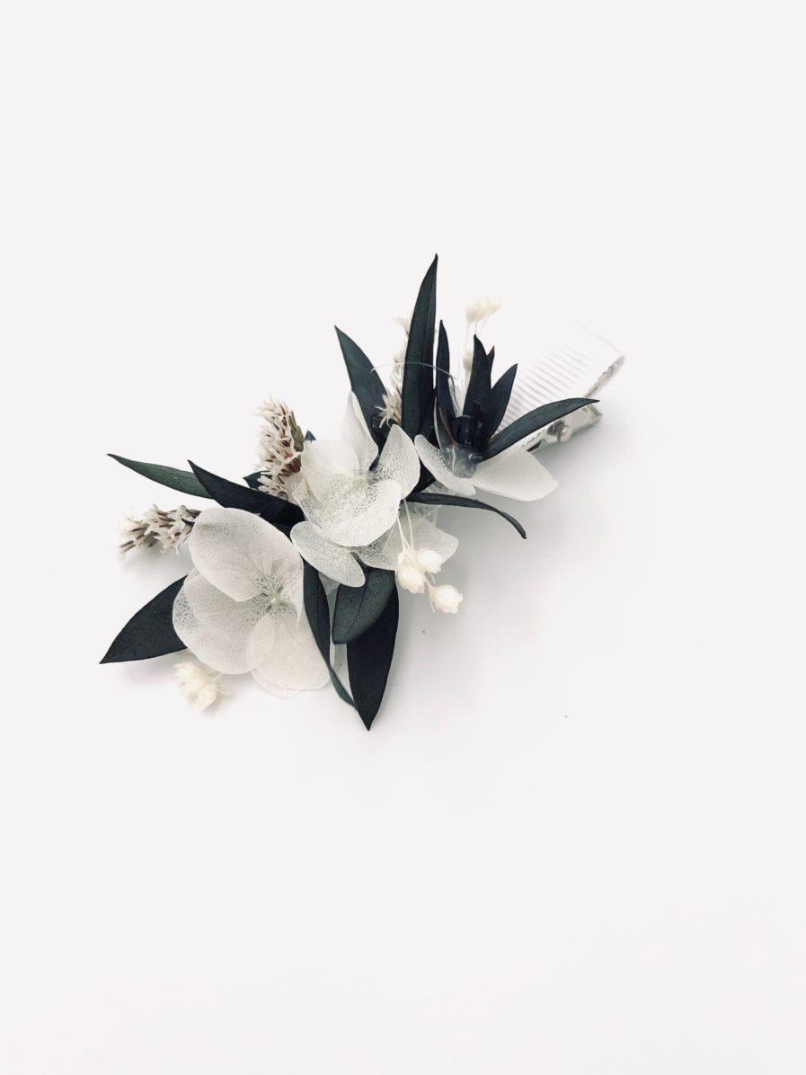 Mini barrette pour demoiselle d'honneur Foglia en eucalyptus