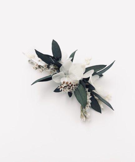 Petite barrette en fleurs Foglia pour l'invitée de mariage