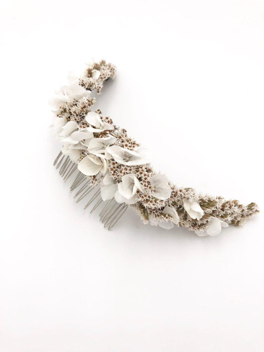 Peigne long Aster en fleurs séchées et stabilisées