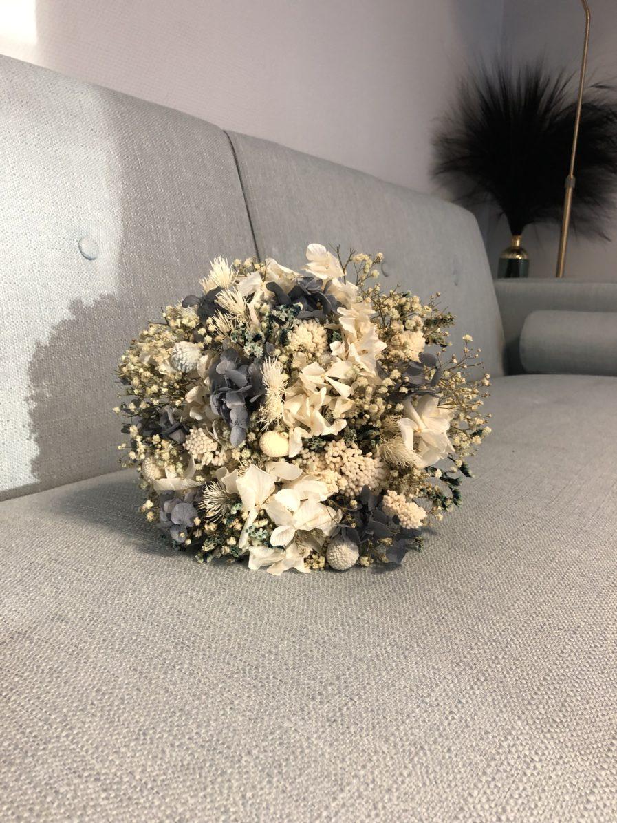 Bouquet en fleurs stabilisées et séchées Horizon pour la mariée