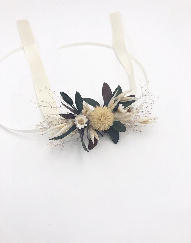 Bracelet de fleurs séchées Ebora pour la mariée
