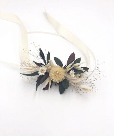 Bracelet en fleurs séchées Ebora pour la demoiselle d'honneur