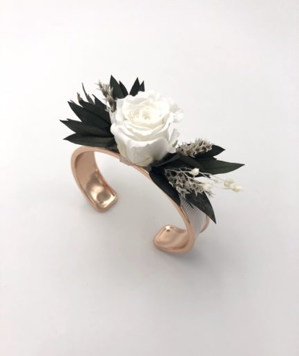 Bracelet jonc en feuilles d'eucalyptus Foglia pour la mariée