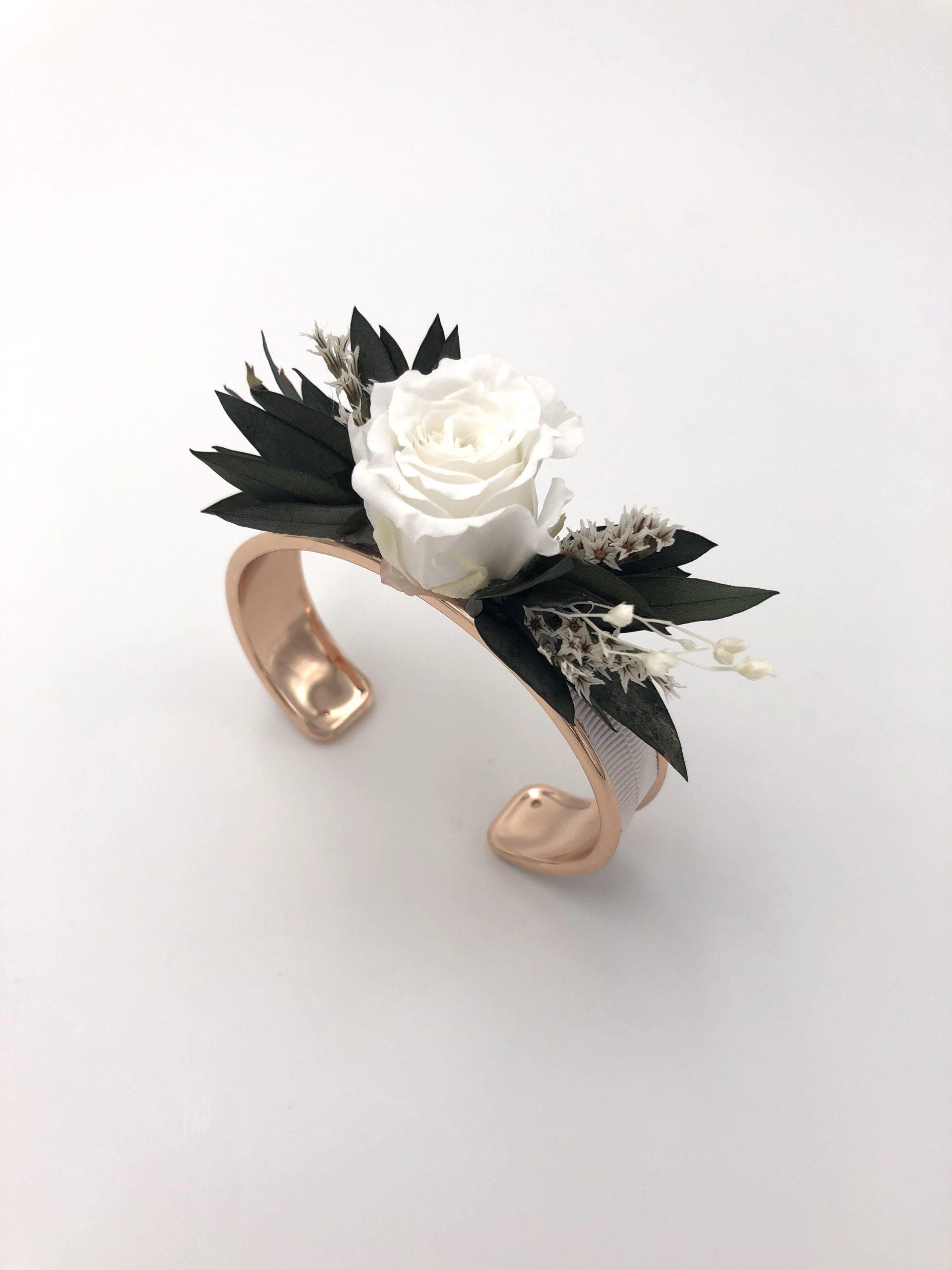 Feuille D Eucalyptus Bouquet bracelet jonc fleuri foglia