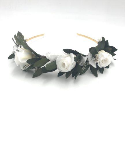 Headband en feuilles d'olivier Elaia pour la mariée moderne