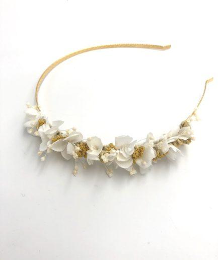 Headband mini Hysope en fleurs séchées