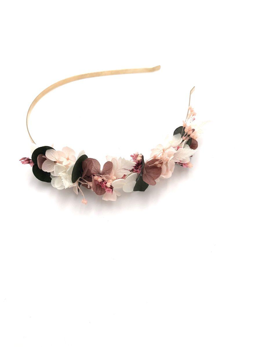 Headband de fleurs mini Tourmaline