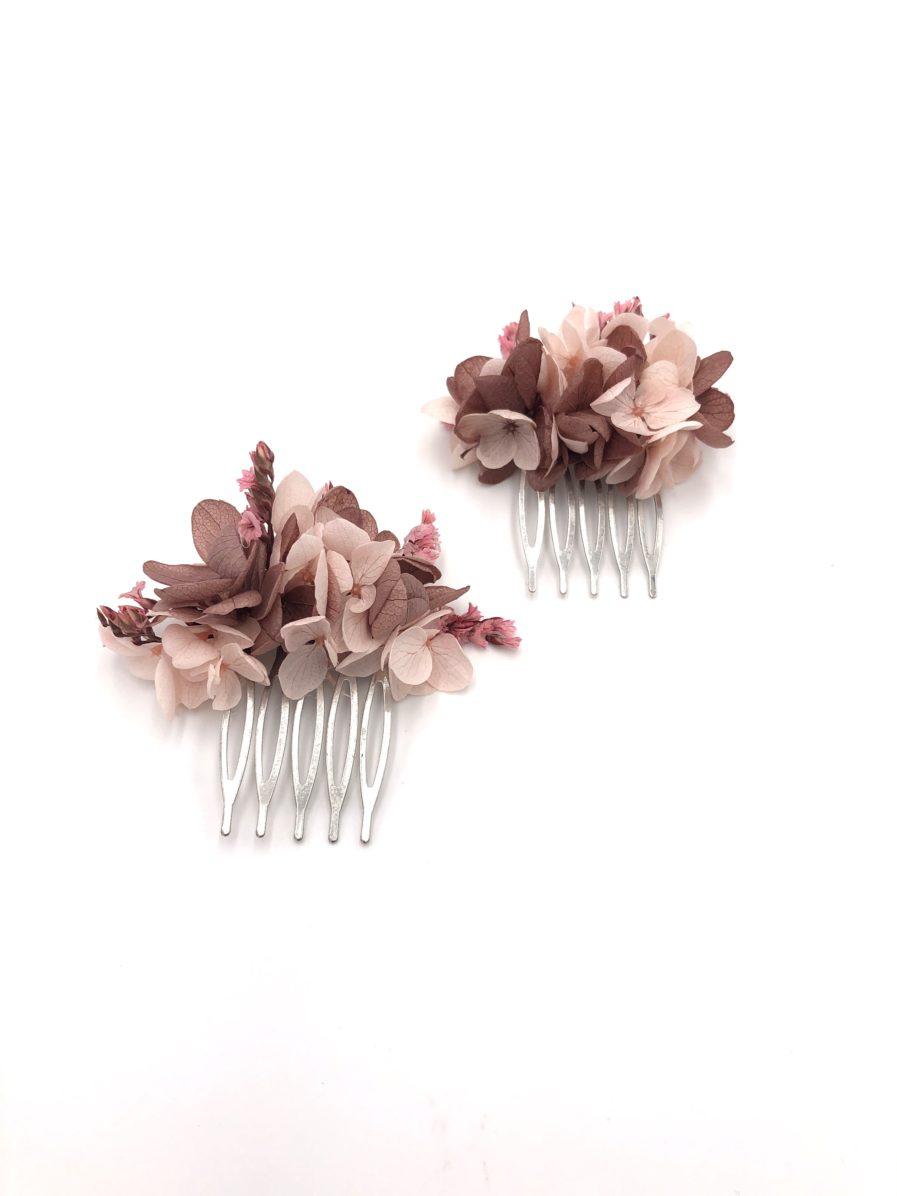 Peigne de fleurs mini Quartz pour la mariée