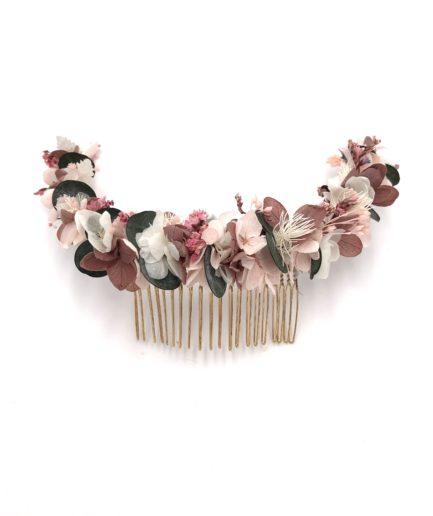 Peigne en fleurs long Tourmaline