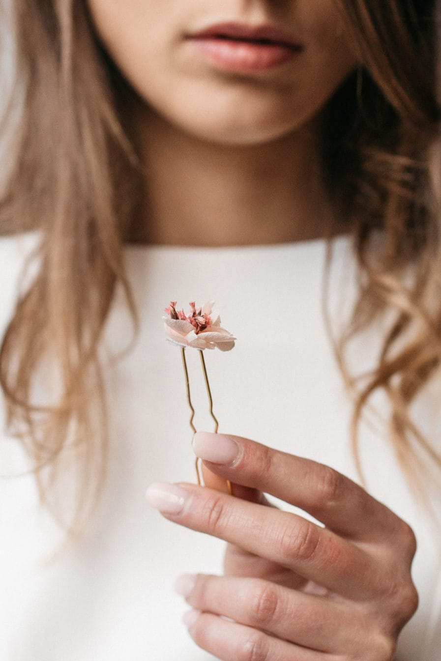 Pic à cheveux Quartz en fleurs