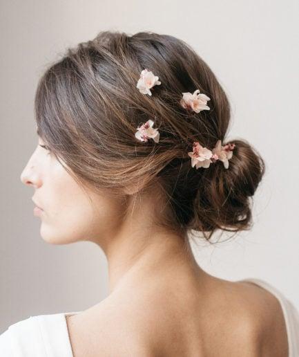 Pics à cheveux en fleurs Quartz