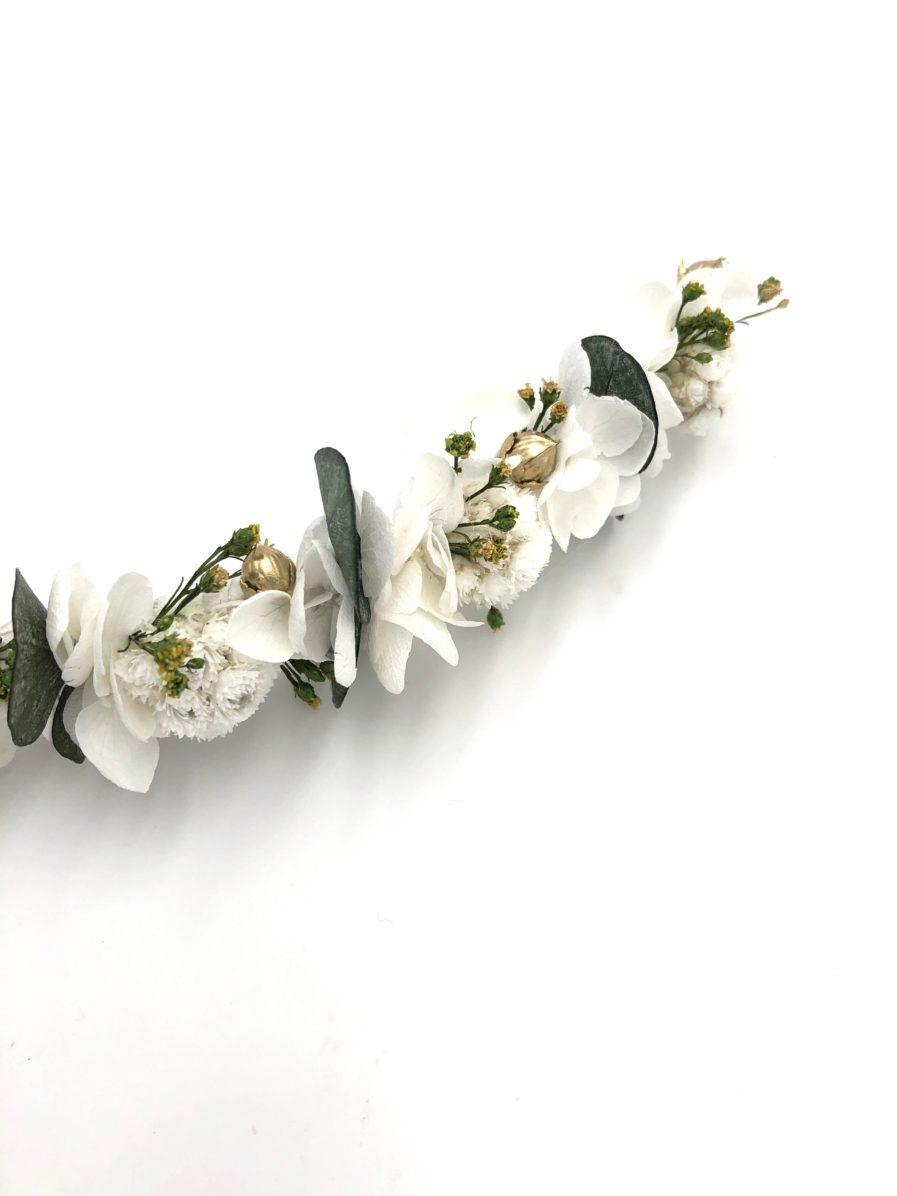 Barrette en fleurs séchées Minthé