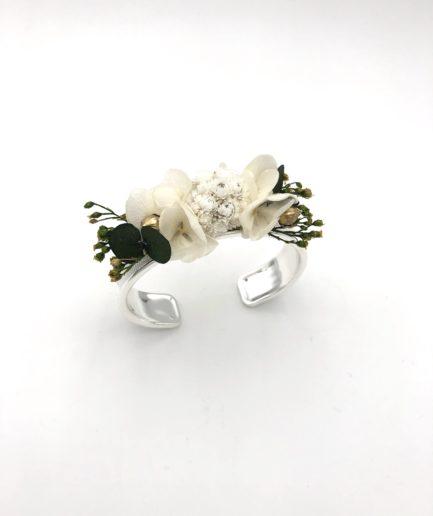 Bracelet jonc fleuri Minthé