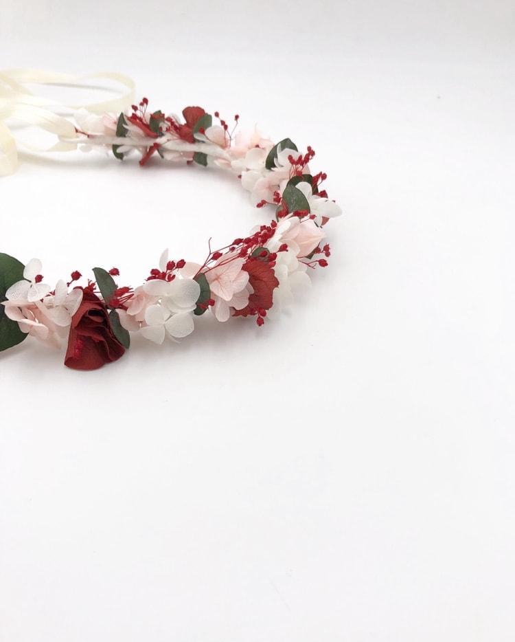 Couronne de mariée Arabesque en fleurs naturelles