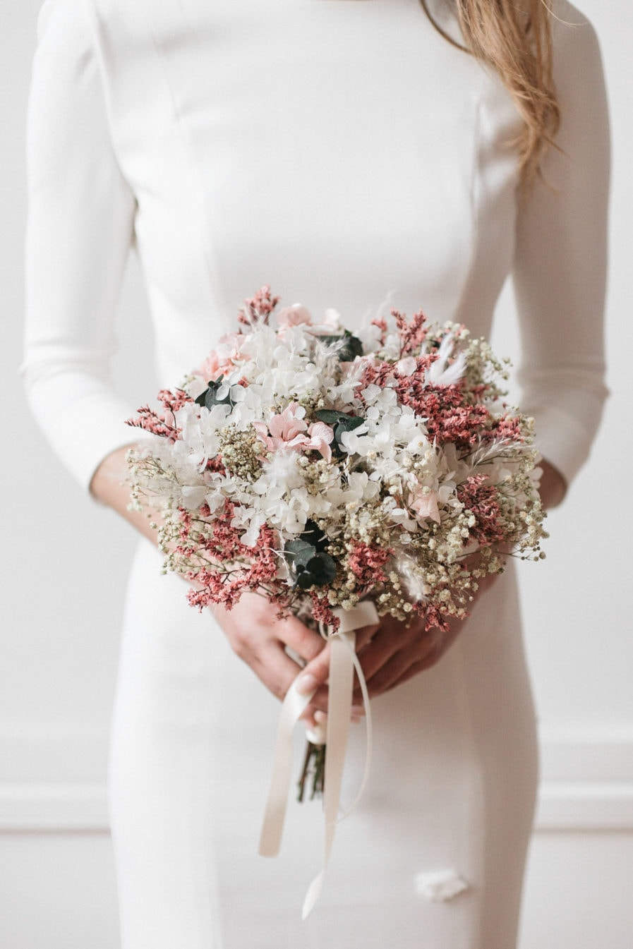Bouquet de la mariée en fleurs stabilisées Tourmaline
