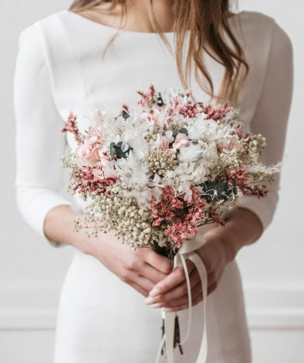 Bouquet en fleurs stabilisées Tourmaline
