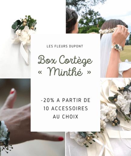 Box cortège Minthé en fleurs séchées et stabilisées