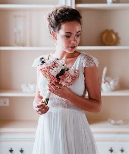 Bouquet de la mariée Confetti en fleurs stabilisées naturelles