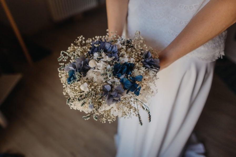 Bouquet en fleurs séchées Horizon - mariée Priscilla