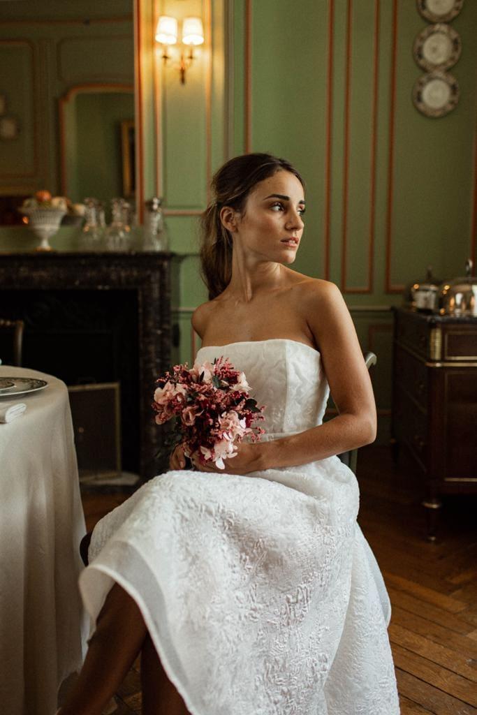 Bouquet en fleurs stabilisées Carmin - Les Fleurs Dupont X Yasmin Hassaïne