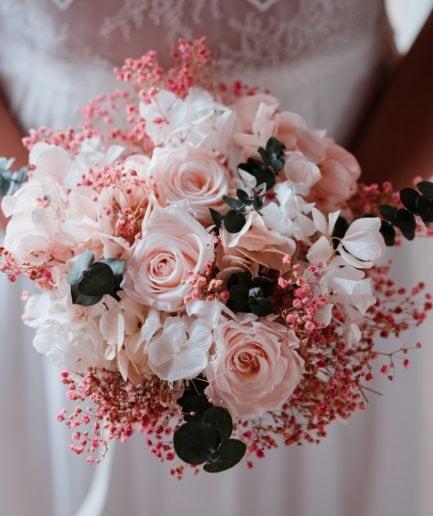 Bouquet en fleurs stabilisées Confetti pour la mariée
